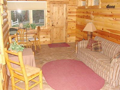 Payson cabin rental - Back family room
